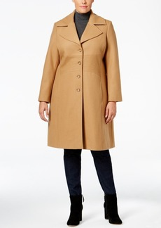 Tommy Hilfiger Plus Size Topstitched Walker Coat