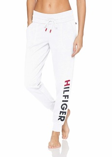 Tommy Hilfiger Plus Size Women's Lounge Pj Pajama Bottom Bright White with Hilfiger Logo