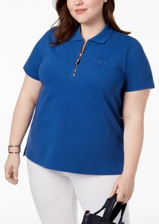 Tommy Hilfiger Plus Size Zippered Polo, Created for Macy's