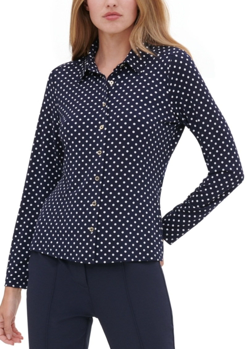Tommy Hilfiger Polka Dot Button-Up Shirt