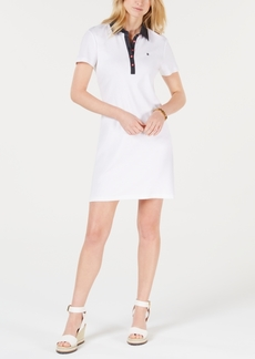 Tommy Hilfiger Polka-Dot Collar Polo-Shirt Dress, Created for Macy's