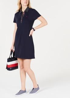 Tommy Hilfiger Polka-Dot Collar Polo-Shirt Dress, Created for Macy's