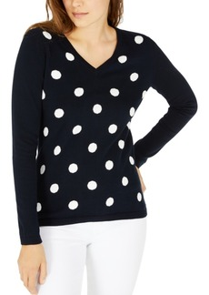 Tommy Hilfiger Polka-Dot Cotton Sweater