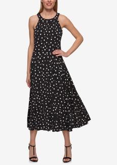 Tommy Hilfiger Polka-Dot Midi Dress
