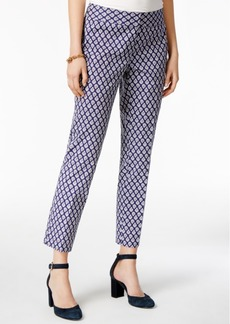 Tommy Hilfiger Printed Ankle Pants, Only at Macy's