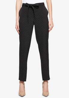 Tommy Hilfiger Printed Belted Skinny Ankle Pants