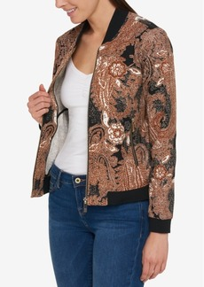 Tommy Hilfiger Printed Bomber Jacket, Only at Macy's