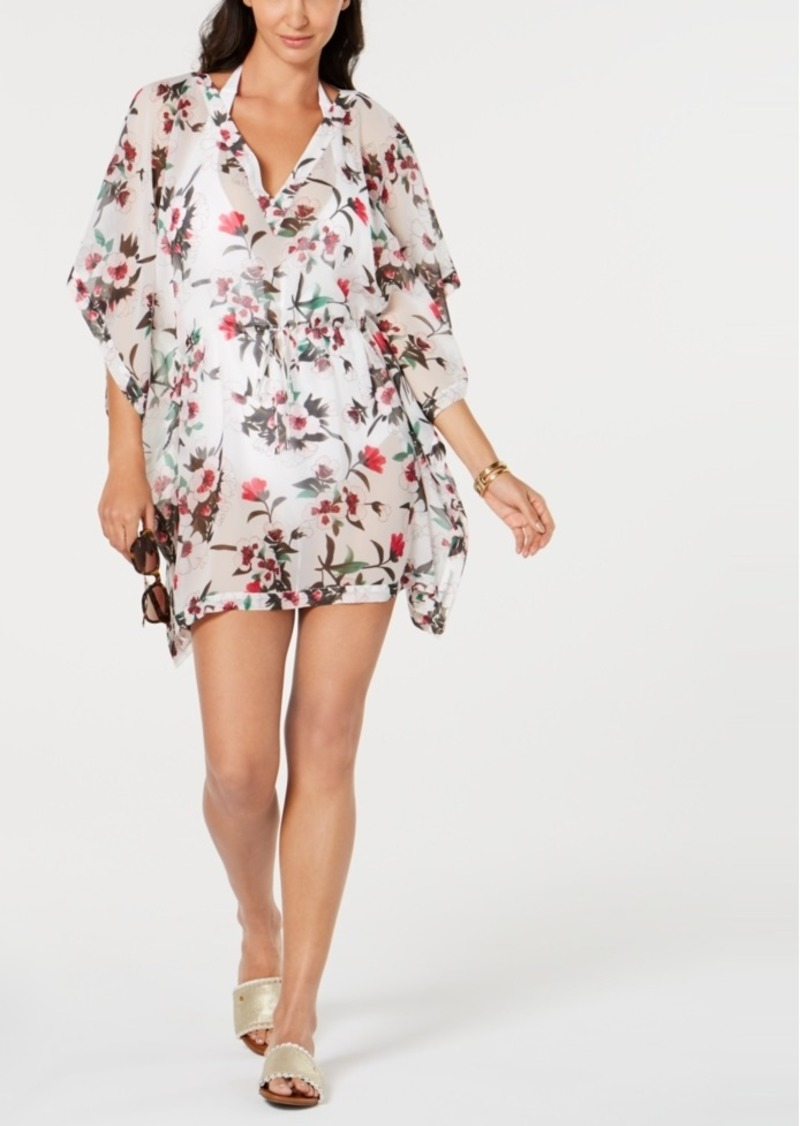 Tommy Hilfiger Printed Chiffon Caftan Cover-Up Women's Swimsuit