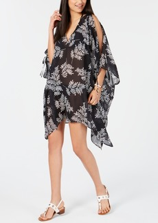 Tommy Hilfiger Printed Chiffon Cold-Shoulder Cover-Up Women's Swimsuit