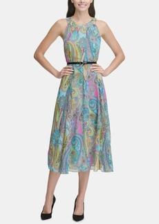 Tommy Hilfiger Floral Chiffon Halterneck Midi Dress