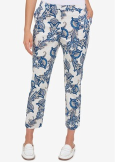 Tommy Hilfiger Printed Cropped Pants, Created for Macy's