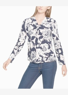Tommy Hilfiger Printed Cross-Neck Top, Created for Macy's