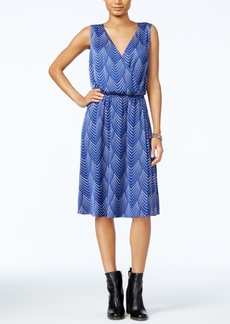 Tommy Hilfiger Printed Faux-Wrap Dress, Only at Macy's