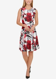 Tommy Hilfiger Printed Fit & Flare Dress, A Macy's Exclusive Style
