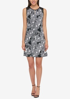 Tommy Hilfiger Printed Illusion Dress, Created for Macy's