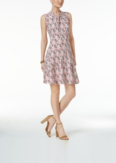 Tommy Hilfiger Printed Knot A-Line Dress