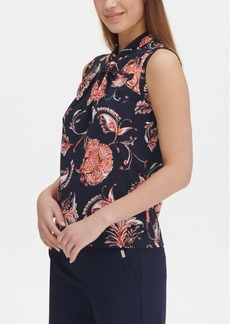 Tommy Hilfiger Printed Knot-Neck Top, Created for Macy's