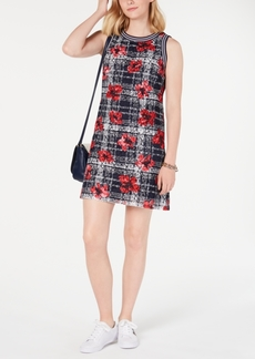 Tommy Hilfiger Printed Lace Dress, Created for Macy's