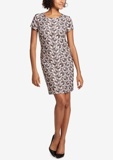 Tommy Hilfiger Printed Lace Shift Dress