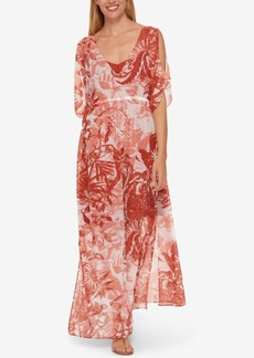 Tommy Hilfiger Printed Maxi Dress, Only at Macy's