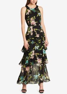 Tommy Hilfiger Printed Ruffled Maxi Dress