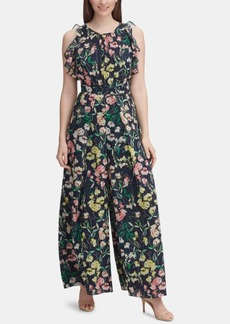 Tommy Hilfiger Printed Ruffled Wide-Leg Jumpsuit