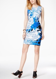Tommy Hilfiger Printed Sheath Dress, Only at Macy's