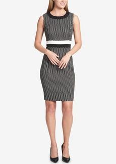 Tommy Hilfiger Printed Striped-Waist Sheath Dress