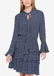 Tommy Hilfiger Printed Tie-Neck Dress, Created for Macy's