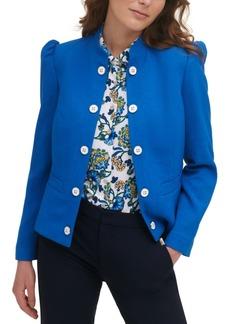 Tommy Hilfiger Puff-Shoulder Stand-Collar Jacket