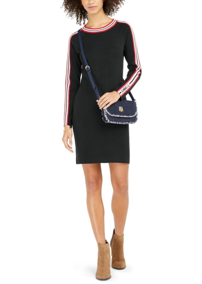 Tommy Hilfiger Racer-Stripe Sweater Dress