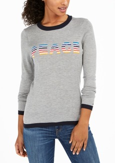 Tommy Hilfiger Rainbow Peace Ringer Sweater