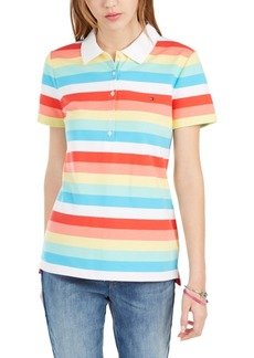 Tommy Hilfiger Rainbow-Stripe Polo