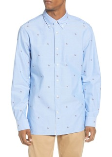 Tommy Hilfiger Regular Fit Logo Button-Down Shirt
