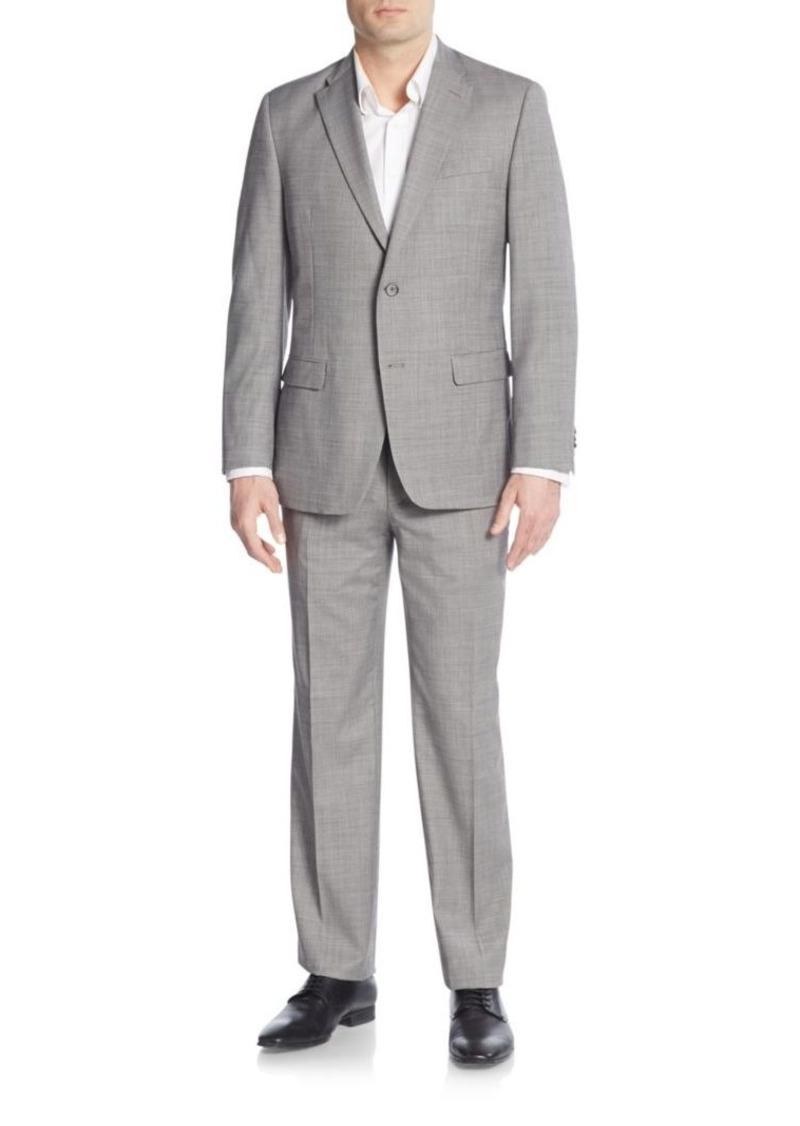 Tommy Hilfiger Regular-Fit Patterned Wool Suit