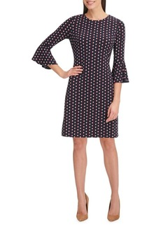 Tommy Hilfiger Remedy Dot Jersey Bell Sleeve Dress