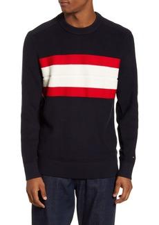 Tommy Hilfiger Ribbed Stripe Crewneck Sweater