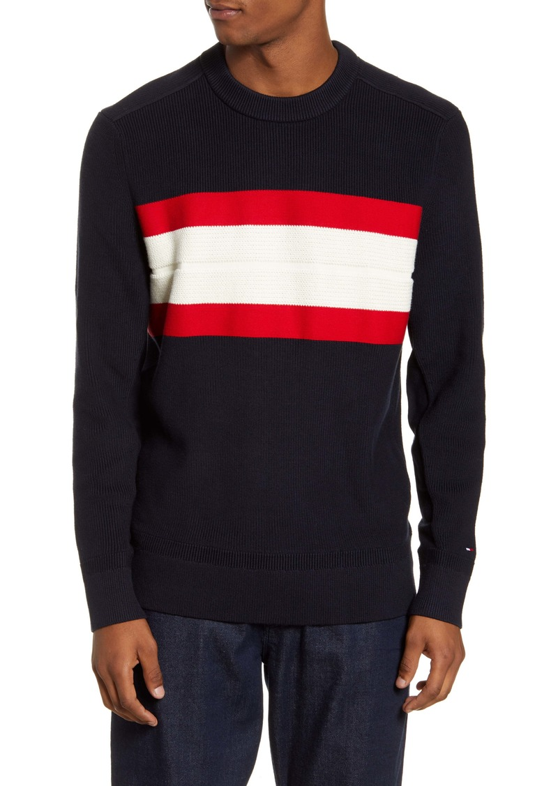 Tommy Hilfiger Ribbed Stripe Crewneck Sweater