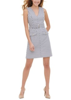 Tommy Hilfiger Rope-Print Belted Dress