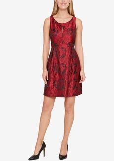 Tommy Hilfiger Rose Jacquard Fit & Flare Dress