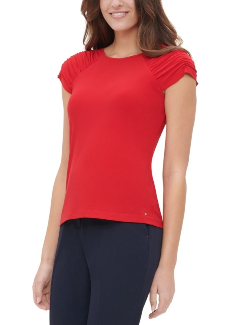 Tommy Hilfiger Ruched-Sleeve Top