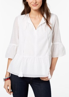 Tommy Hilfiger Ruffle Blouse, Created for Macy's