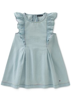 Tommy Hilfiger Ruffle Denim Dress, Little Girls