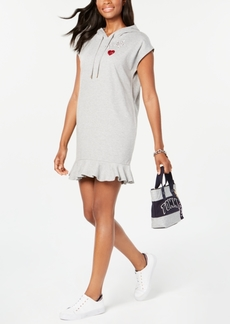 Tommy Hilfiger Ruffle-Hem Hoodie Sweatshirt Dress, Created for Macy's