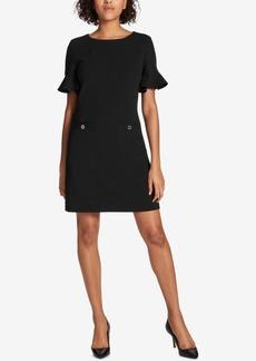 Tommy Hilfiger Ruffle-Sleeve Pocket Dress