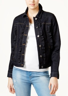 Tommy Hilfiger Ruffled Denim Jacket, Only at Macy's