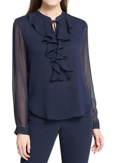 Tommy Hilfiger Ruffled Long Sleeve Blouse