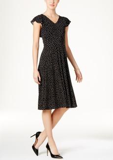 Tommy Hilfiger Ruffled Midi A-Line Dress