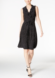 Tommy Hilfiger Ruffled Polka-Dot A-Line Dress