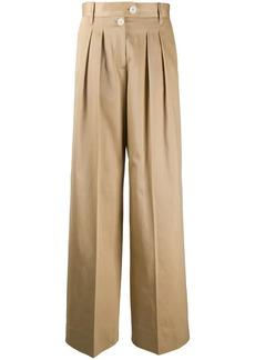 Tommy Hilfiger wide leg pleat detail trousers